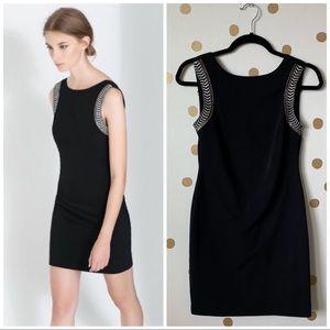 Zara Bodycon Dress with Appliqué Beaded